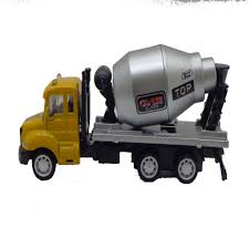 100 Toy Cement Truck Die Cast Metal Pull Back Construction Vehicle Mixer For