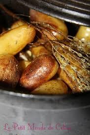 cuisiner des pommes de terre ratte cocotte de rattes du touquet au thym et à l ail le petit monde