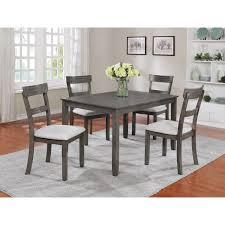 Henderson 5 Piece Dining Table And Chair Set By Crown Mark At Dunk & Bright  Furniture Hever Ding Table With 5 Chairs Bench Chelsea 5piece Round Package Aqua Drewing And Chair Set By Benchcraft Ashley At Royal Fniture Trudell Upholstered Side Signature Design Dunk Bright Lawson Piece Includes 4 Liberty Darvin Barzini Black Leatherette Coaster Value City Pc Kitchen Set A In Buttermilk Cherry East West The District Leaf Intercon Wayside Grindleburg Vesper Round Marble Ding Table Piece Set Brnan Amazoncom Tangkula Pcs Modern Tempered