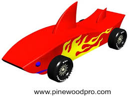 Pinewood Derby Car Design Shark