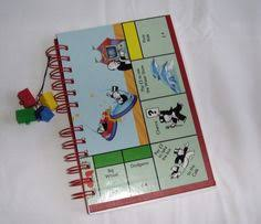 Junior Monopoly Recycled Board Game Journal Notebook GBP700 Via Etsy