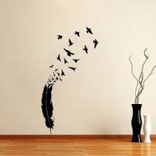 Bird Wall Art Flying Birds Feather With Transform Into Amusing Animal Theme Fun Traditional
