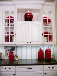 Affordable Cabinet Makeover Ideas Red Kitchen