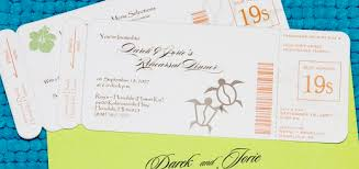 DIY Boarding Pass Invitation Save The Date