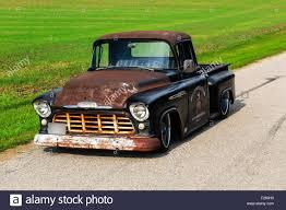 1956 Chevrolet Custom Rat Rod Pickup Truck Stock Photo: 87413343 - Alamy
