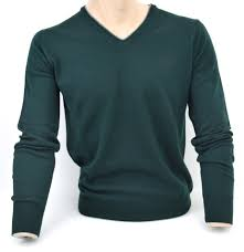 fred perry man v neck sweater dark green code 3754 without tag