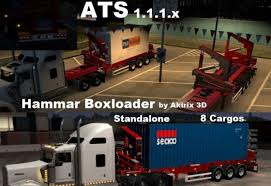 Hammar Boxloader V1.2 By Akirix 3D For ATS - American Truck ... 3d Truck Simulator 2016 Android Os Usa Gameplay Hd Video Youtube Pickup 18 Truckerz Revenue Download Timates Google Torentas American V 129117 16 Dlc How Euro 2 May Be The Most Realistic Vr Driving Game 1290811 3d Driving Euro Truck Simulator Game Rshoes Online Hack And Cheat Gehackcom Real Car Transporter 2017 Apk Best For Ios A Collection Of Skins On The Trailer