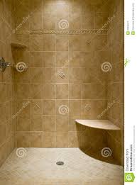 custom tiled stand up shower stock photo image 32424574