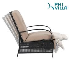 PHI VILLA Patio Metal Adjustable Relaxing Recliner Lounge Chair And Small  Side Table Set Phi Villa Outdoor Patio Metal Adjustable Relaxing Recliner Lounge Chair With Cushion Best Value Wicker Recliners The Choice Products Foldable Zero Gravity Rocking Wheadrest Pillow Black Wooden Recling Beach Pool Sun Lounger Buy Loungerwooden Chairwooden Product On Details About 2pc Folding Chairs Yard Khaki Goplus Wutility Tray Beige Headrest Freeport Park Southwold Chaise Yardeen 2 Pack Poolside