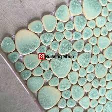 green porcelain wall tiles pebble mosaic ppmt044 pebble flooring