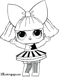 Lol Doll Coloring Pages Free Page Surprise Bon