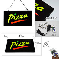 For The LED Signboard Resin Type Pizza Design 233433 Drawing Card Open Store