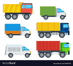 100 Trucks Cartoon Models Collection Royalty Free Vector Image
