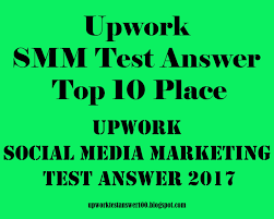 Upwork Social Media Marketing Test Answer 2017