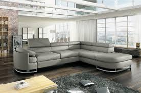 canapé d angle de qualité canapé d angle convertible islanda en simili cuir de qualité gris