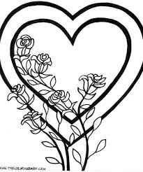 Valentines Heart Coloring Page For Kids Girls Pages Printables Mothers Day