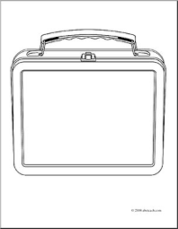 Lunch Box Clipart Black And White 2 Food
