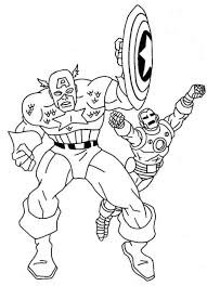 Ironman And Captain America Coloring Pages For Kids