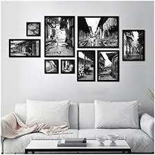 de bilderrahmen collage set 9 schwarz weiß alte