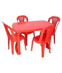 Trend Plastic 4 Seater Dinning/dining Table Chair Set.- Red - Buy ... Cuba Stackable Faux Leather Red Ding Chair Acrylic Chairs Midcentury Room By Carl Aubck For E A Pollak Fast Food Ding Room Stock Image Image Of Lunch Ingredient Plastic Outdoor Fniture Makeover Iwmissions Landscaping Modern Red Kitchen Detail Area Transparent Rspex Table Murray Clear Set Of 2 Side Retro Red Ding Lounge Chairs Eiffle Dsw Style Plastic Seat W Cool Kitchen From The 560s In Etsy 2xhome Gray Mid Century Molded With Arms 24 Incredible Covers Cvivrecom