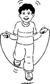 This Coloring Page For Kids Features An Excited Looking Boy Enjoying Some Jump Rope Fun