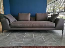 minotti hamilton island sofa in stoff grau braun w neu