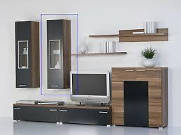 hängeschrank wandschrank mit 1 tür korpus nussbaum front schwarz dekor ebay
