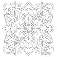 Lilt Kids Free Easy Mandala Adult Coloring Book Image