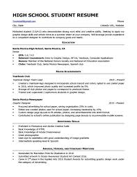 Resume High School Example Student Sample Download Make Photo Gallery
