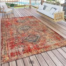 paco home teppich artigo 432 rund 4 mm höhe vintage design in und outdoor geeignet wohnzimmer