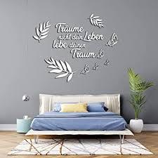 3d wandtattoo schlafzimmer aus holz mit dem spruch träume nicht dein leben lebe dein traum in verschieden farben große m 70cm x 90cm sprüche