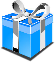 Gift Present Blue Birthday Bow