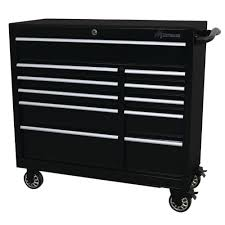 Montezuma 41 In. 11-Drawer Tool Box In Black-BK4111TC - The Home Depot