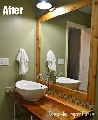 Diy Industrial Bathroom Mirror by 45 Best Industrial Bathroom Images On Pinterest Industrial