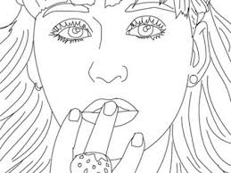 Katy Perry Close Up Coloring Pages Hellokidscom