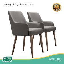 Arturo - Aubrey Dining Chairs (Set Of 2)/ Fabric Chairs/ Solid Wood Chairs/  Arm Chair/ Dining Chair With Arm Rest (FREE Shipping To West Malaysia) Timothy Oulton Mimi Ding Chair With Arms Weathered Oak Legs Fairfield Chairs Contemporary Room Arm Gallatin Ding Arm Chair From Caste Architonic Elegant French Style High Back Cream Walnut Fabric Alice Armrest Villa Cortina Leather By Universal At Hudsons Fniture Amazoncom Modern Solid Wood Swivel Casual Dafny Country Empire Camel Co Black Steel Base Dakar 0842 Seatdark Stained Warms