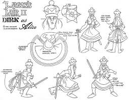 Ad And Model Sheets For The 1983 Laserdisc Game Dragons Lair