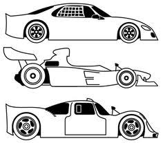 Three Different Race Car Coloring Page