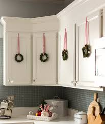 Above Kitchen Cabinet Christmas Decor by Amazing Christmas Decorations For Kitchen Cabinets Vibrant Perfect