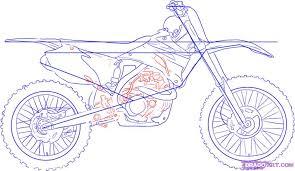 Drawn Bicycle Dirt Bike 6