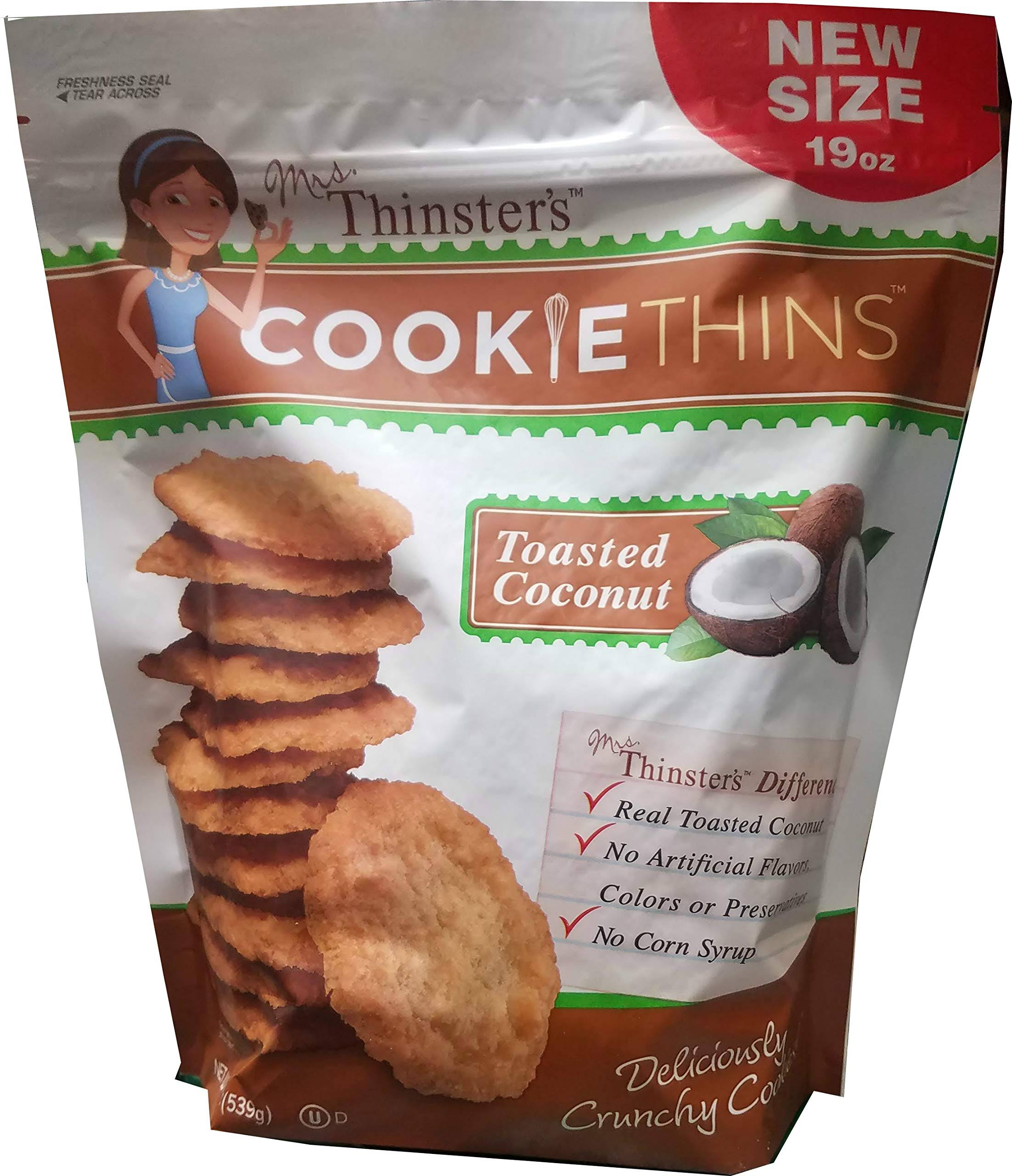 Mrs Thinsters Coconut Cookie Thins 19 oz