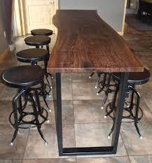 Impressive Ideas Dining Room Bar Tables Custom Made Live Edge Walnut Height Table