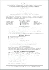Dental Assistant Resume Samples Dentist Sample Example Free Office Best Of Ultimate Examples
