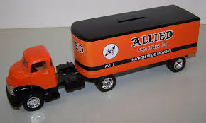 100 43 Chevy Truck 9485 1 Allied Van Lines 1950 Cab With Trailer Bank Action