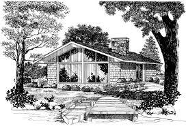 The Retro Home Plans by Contemporary Retro House Plan 95009 More Retro Ideas