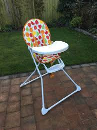 100 High Chair Pattern Mothercare Fruit Folding With Tray In Newcastle