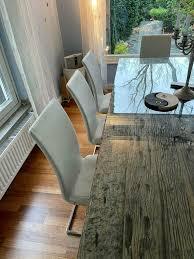 moderne weiße esszimmer stühle