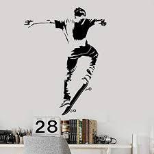ganlanshu skateboard vinyl wandtattoos jugendzimmer