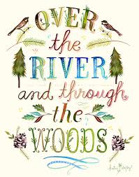 Over The River And Through Woods Paper Print Woodsy Wall