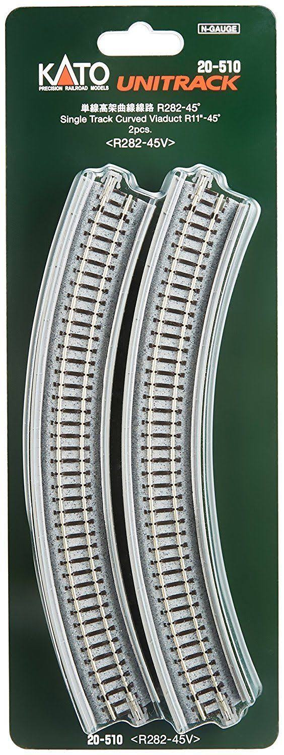 Kato KAT20510 N 282mm Radius 45 Degree Single Track Viaduct - 2pcs
